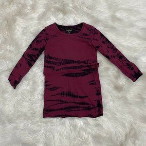 Finger in the Nose Burgundy4-5 Bamboo Tie Dye Laye
